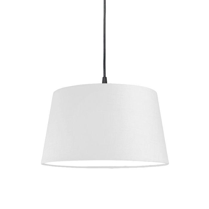 Lámpara-colgante-moderna-negra-con-pantalla-blanca-45-cm---Colgante