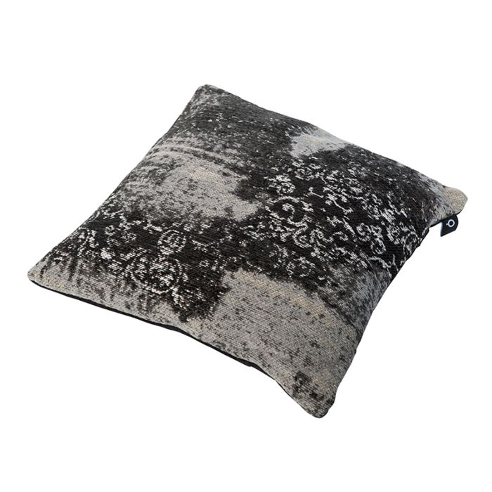 Cojín-vintage-cuadrado-gris/negro-45-x-45cm---PURI