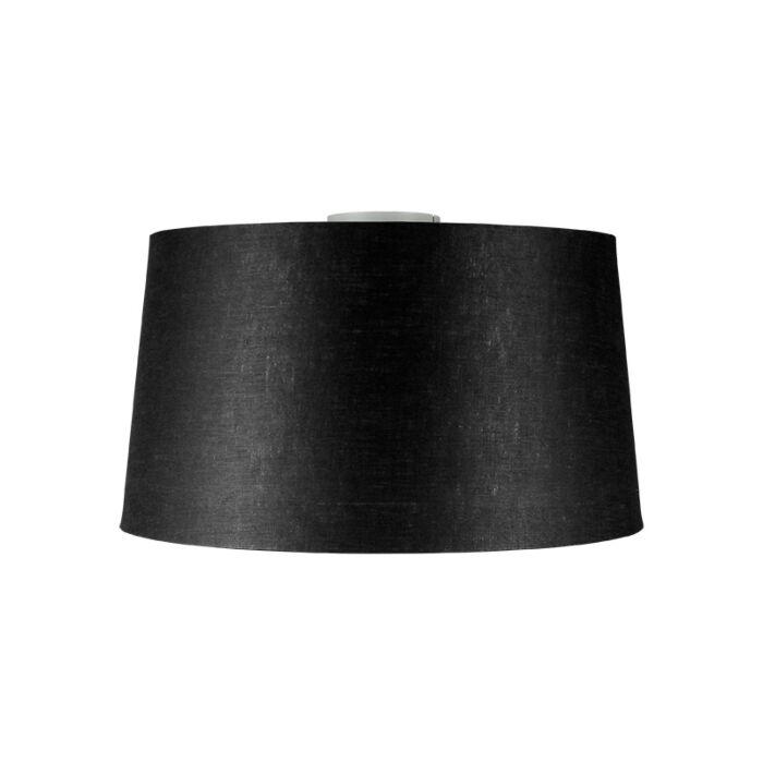 Plafón-moderno-blanco-mate-pantalla-negra-45cm---COMBI