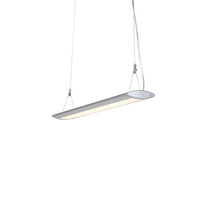 Lámpara-colgante-moderna-ovalada-65cm-plateada-LED---DUCT-O