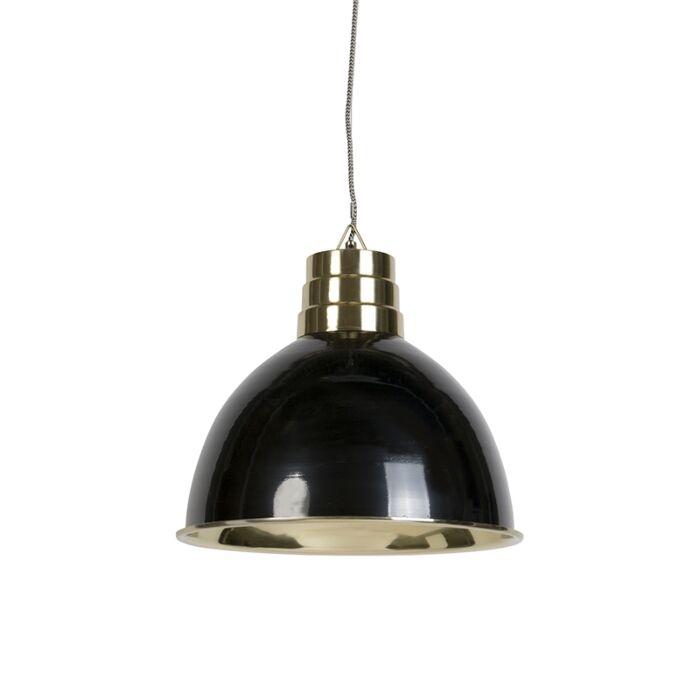 Lámpara-colgante-art-déco-beige-con-latón---BOMBAY