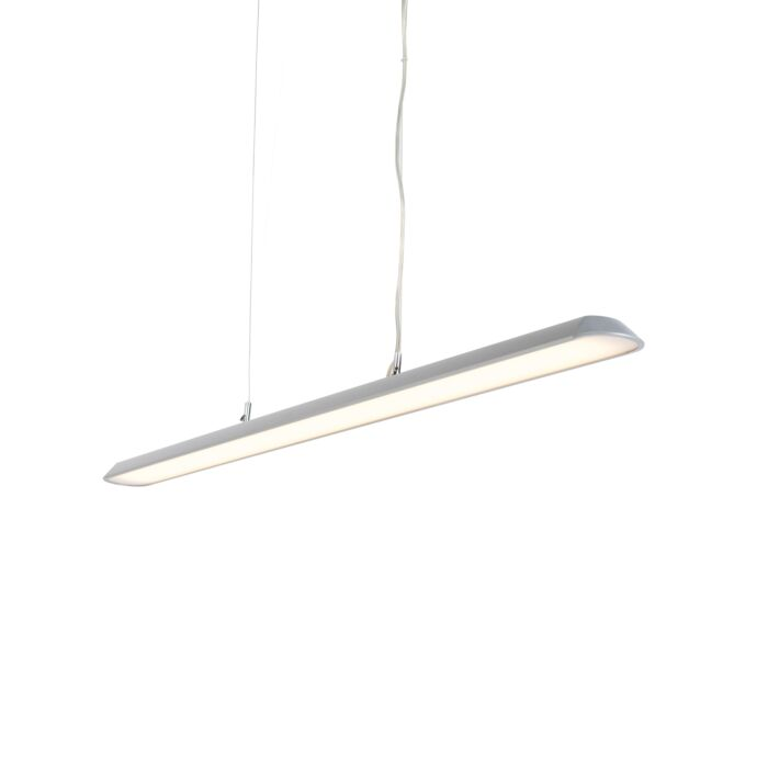 Lámpara-colgante-moderna-130cm-plateada-LED---DUCT-S