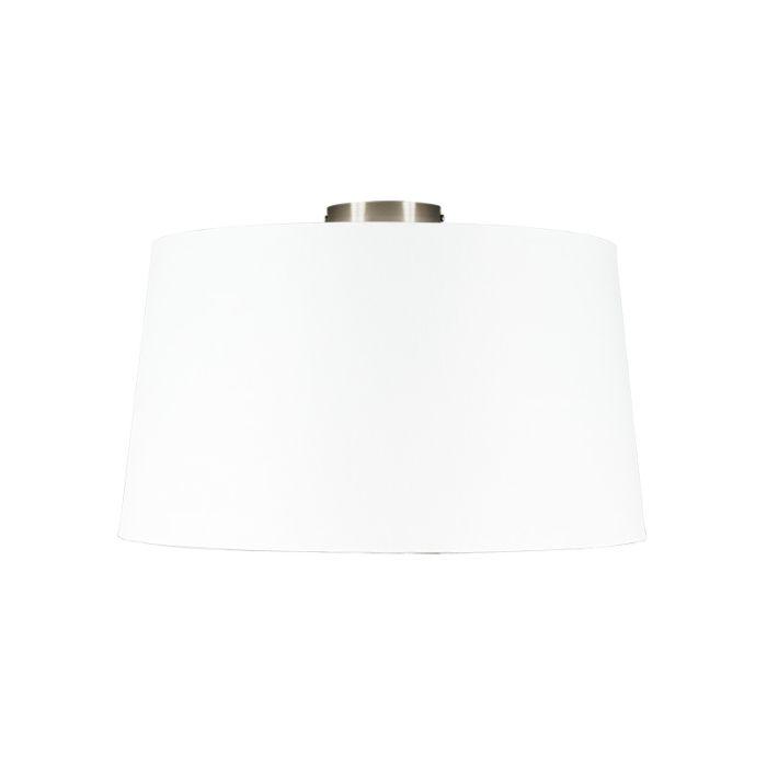 Plafón-moderno-acero-con-pantalla-blanca-45-cm---Combi