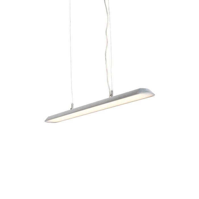 Lámpara-colgante-moderna-100cm-plateada-LED---DUCT-S