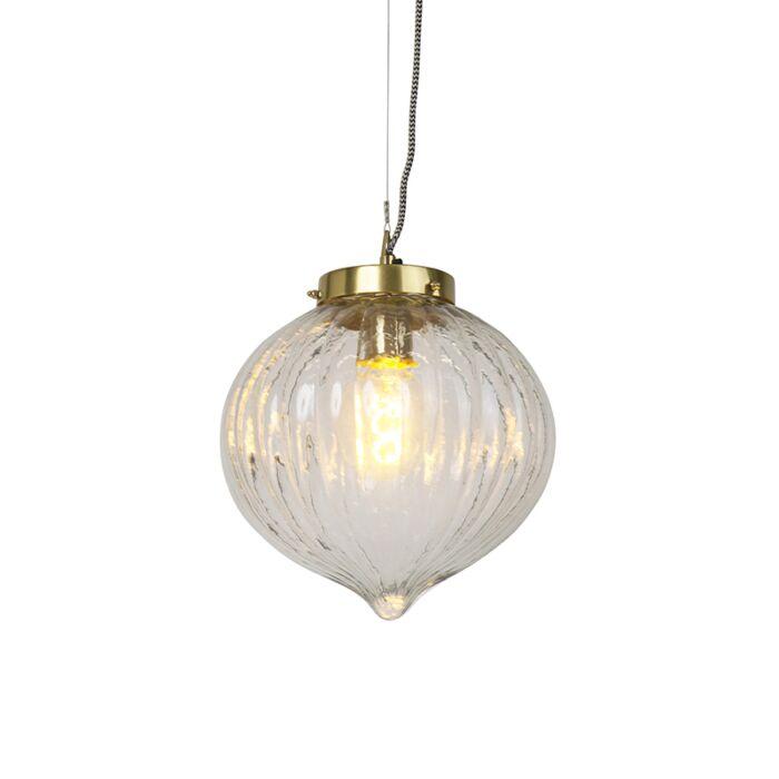 Lámpara-colgante-diseño-cristal-con-latón--VISHA