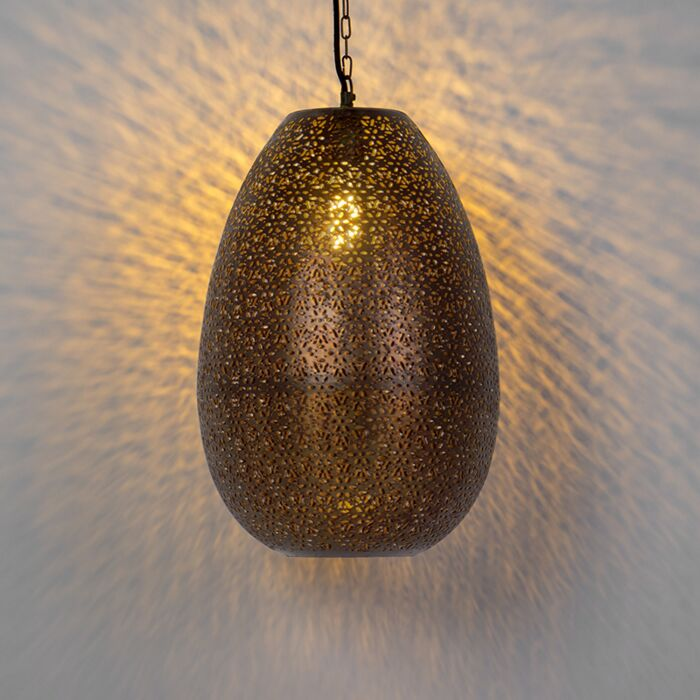 Lámpara-colgante-oriental-cobre---MARUF-1