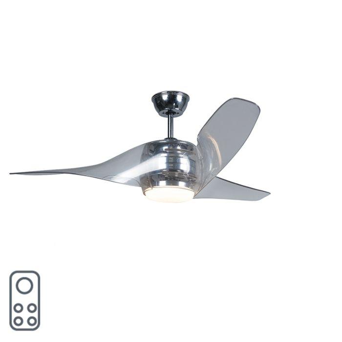 Ventilador-con-plafón-SIROCCO-50-LED-cromo