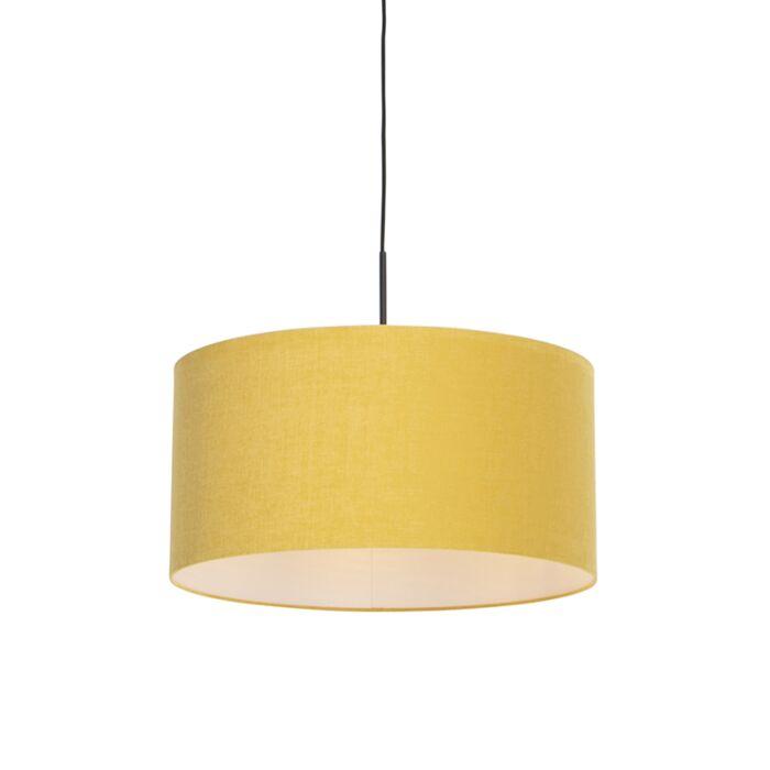Lámpara-colgante-moderna-negra-pantalla-50cm-amarillo---COMBI-1