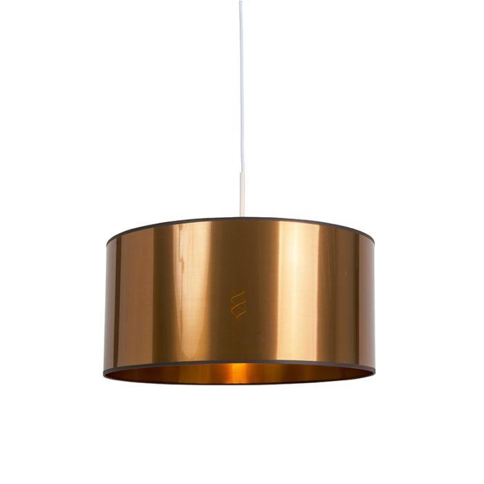 Lámpara-colgante-blanca-pantalla-cobre-50cm---COMBI-1