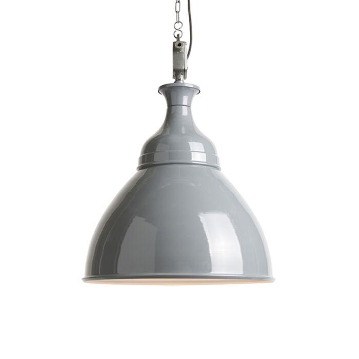 Lámpara-colgante-industrial-gris-con-blanco---Bob