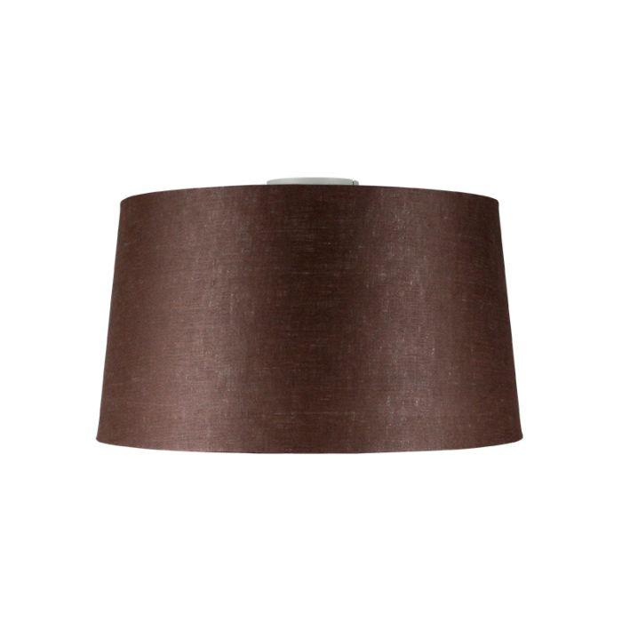Plafón-COMBI-blanco-mate-con-pantalla-45cm-gris-marronáceo
