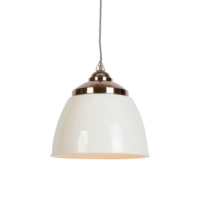 Lámpara-colgante-art-déco-beige-con-cobre---MUMBAI