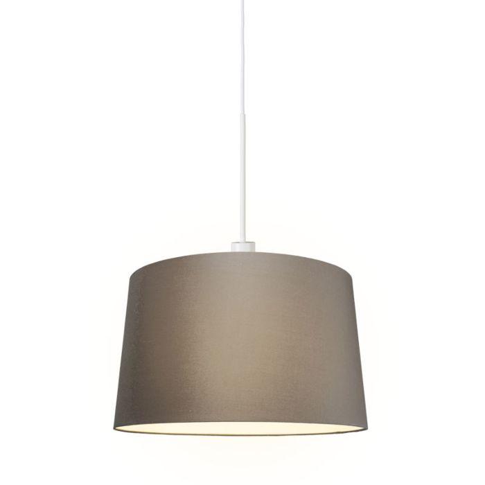 Lámpara-colgante-moderna-blanca-con-pantalla-de-45-cm-de-color-topo---Combi-1