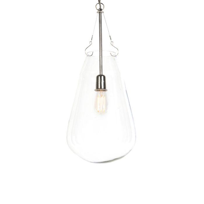 Lámpara-colgante-retro-redonda-cristal-con-níquel---SIKKA