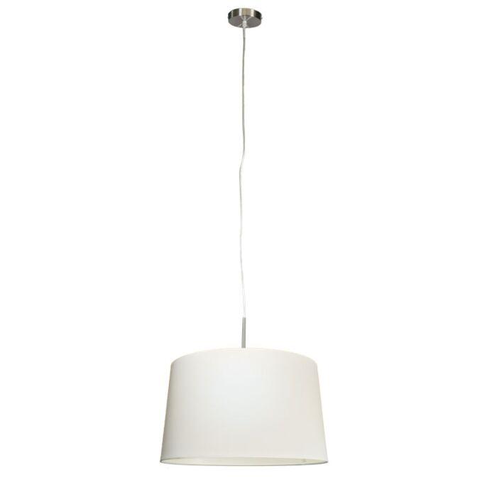 Lámpara-colgante-moderna-acero-pantalla-blanca-45cm---COMBI-1