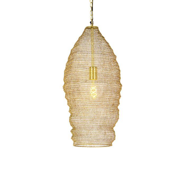 Lámpara-colgante-oriental-dorada-25cm---NIDUM
