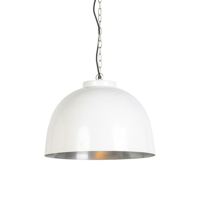 Lámpara-colgante-blanca-con-níquel-dentro-de-45,5-cm---Hoodi