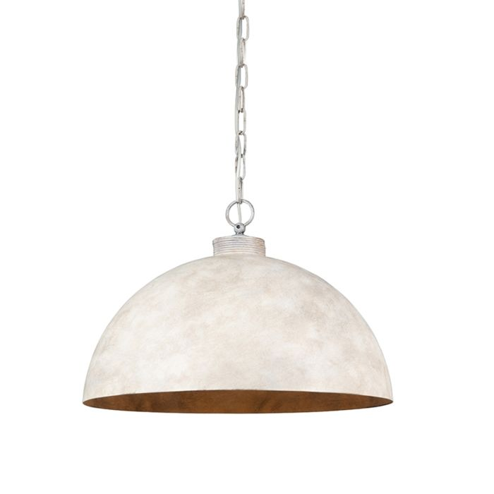 Lámpara-colgante-industrial-gris-pardo-50-cm---Magna-Classic
