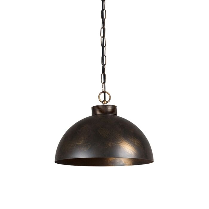 Lámpara-colgante-industrial-marrón-óxido-35-cm---Magna-Classic