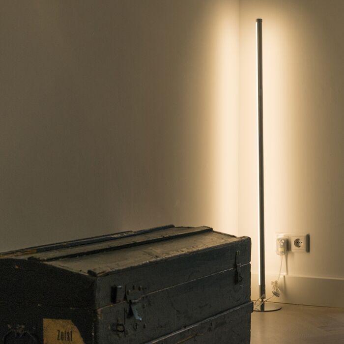 Lámpara-de-pie-moderna-LED-cromo---LINE-UP
