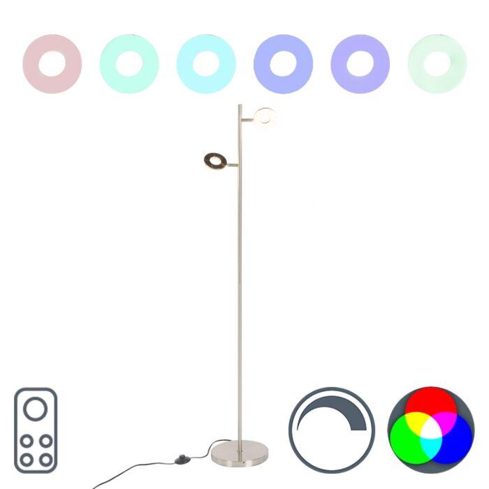 Lámpara-de-pie-moderna-acero-con-RGBW-2-focos---CHIEF