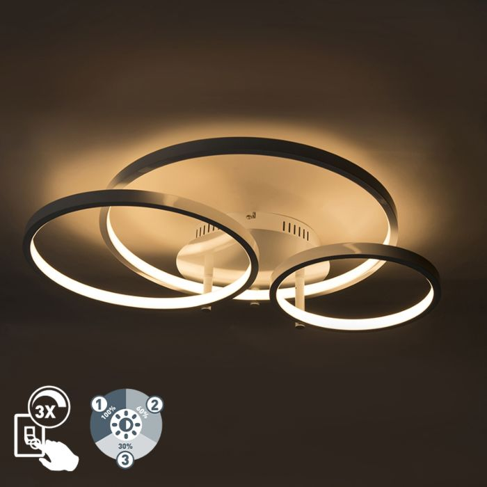 Plafón-moderno-blanco-LED-regulador---RONDAS