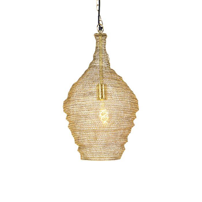 Lámpara-colgante-oriental-dorada-30cm---NIDUM