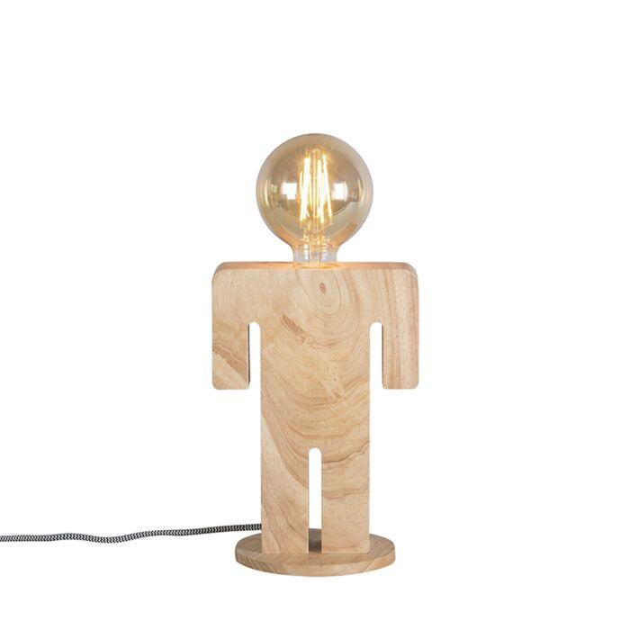 Lámpara-de-mesa-rústica-madera---ADAM