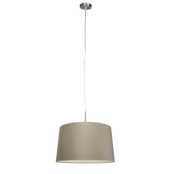 Lámpara-colgante-moderna-de-acero-con-pantalla-de-45-cm-de-color-topo---Combi-1