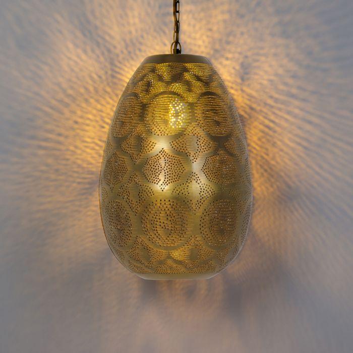 Lámpara-colgante-oriental-oro-/-latón---ZAYN-1
