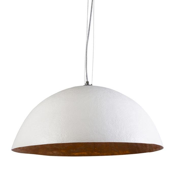 Lámpara-colgante-MAGNA-70-blanca---oro