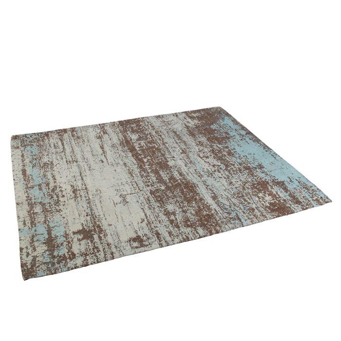 Alfombra-vintage-rectangular-160x230cm-turquesa/-marrón--KOCHI