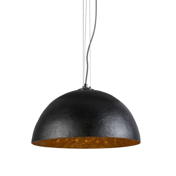 Lámpara-colgante-MAGNA-50-negra-oro