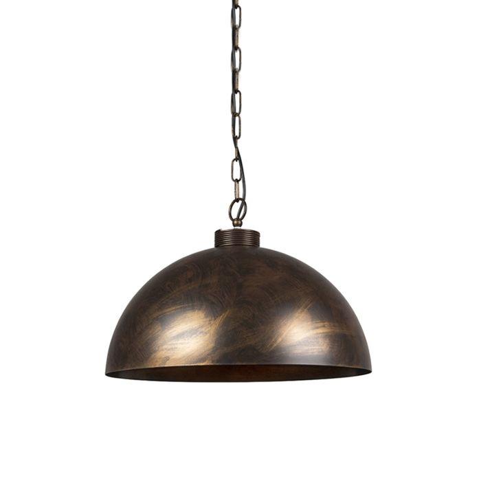 Lámpara-colgante-industrial-marrón-óxido-50-cm---Magna-Classic