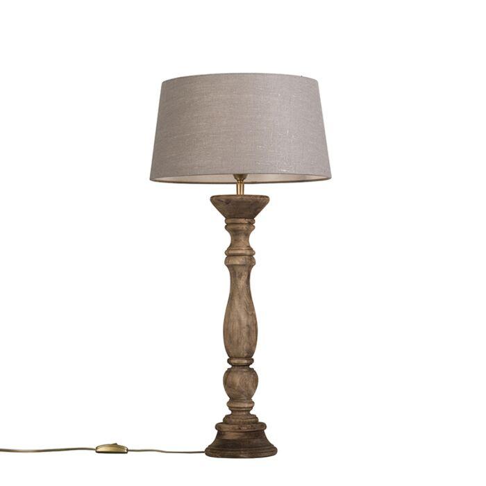 Lámpara-de-mesa-natural-con-pantalla-35-cm-gris