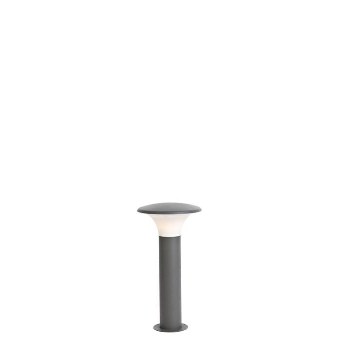 Baliza-moderno-gris-oscuro-50cm-IP44-LED---PAPI