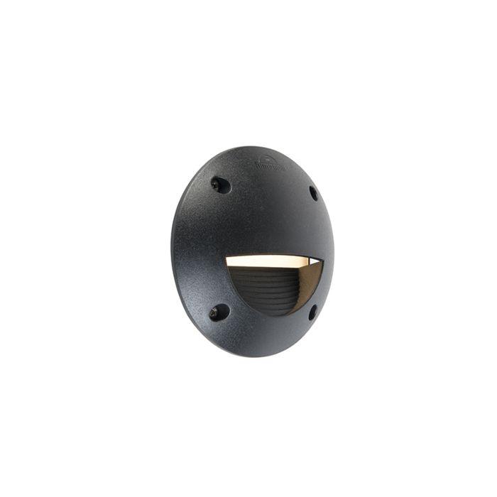Aplique-de-pared-para-exterior-semicircular-moderno-negro-con-LED-IP65---Leti