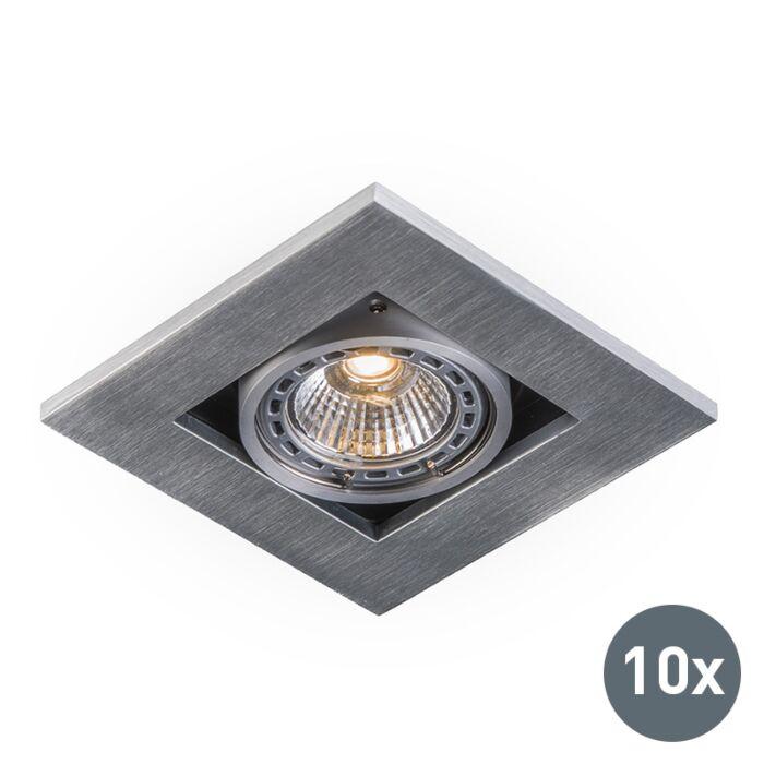 Conjunto-de-10-focos-empotrados-de-aluminio---Qure
