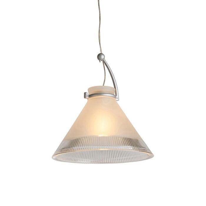 Lámpara-colgante-CHRIS-cristal-mate-con-borde-transparente