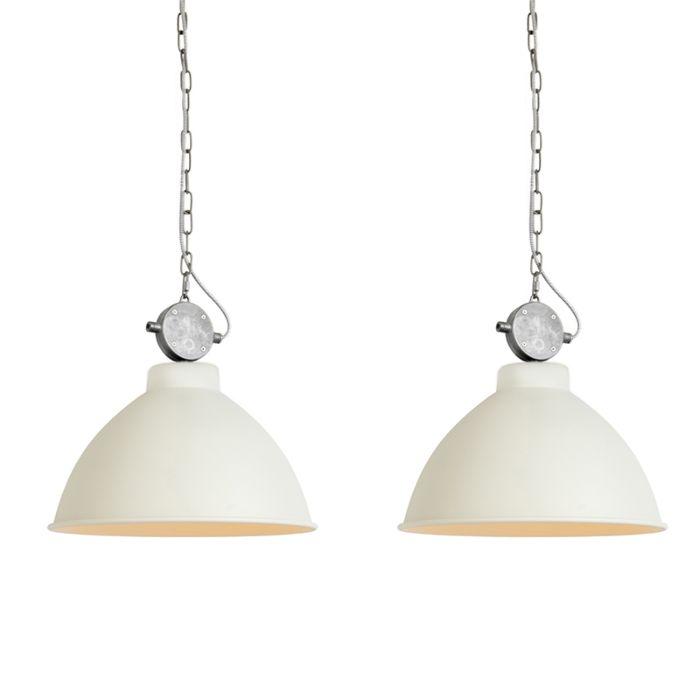 Set-de-2-lámparas-colgante-ANTERIO-38-blancas