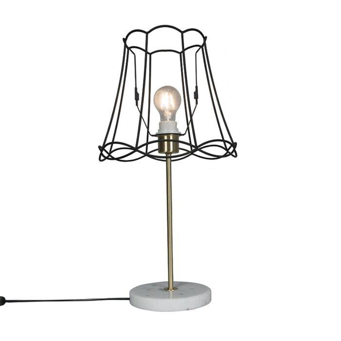 Lámpara-de-mesa-retro-latón-GRANNY-Frame-negro-30-cm---KASO