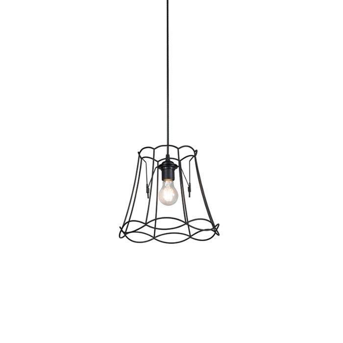Lámpara-colgante-retro-negra-30-cm---GRANNY-Frame