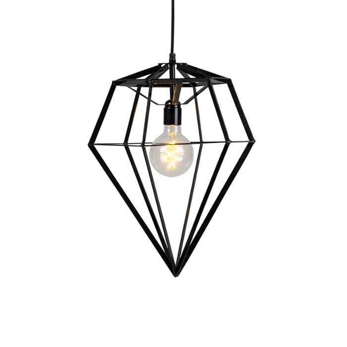 Lámpara-colgante-industrial-negra---FRAME-DIAMOND-LARGE