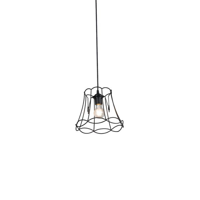 Lámpara-colgante-retro-negra-20-cm--GRANNY-Frame