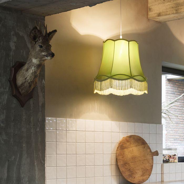 Lámpara-colgante-retro-verde-45-cm---Granny