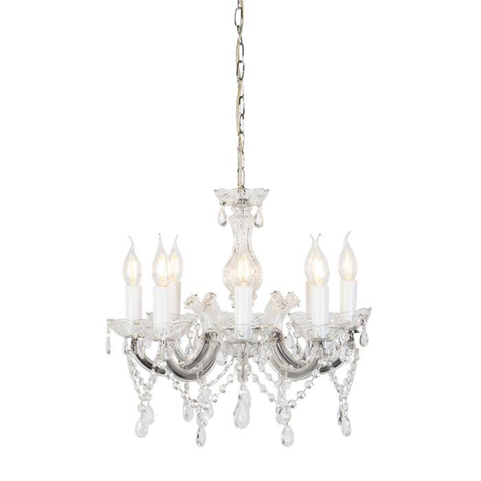 Lámpara-de-araña-cristal-vintage-con-brazos-en-C-8-luces---MARIE-THERESA