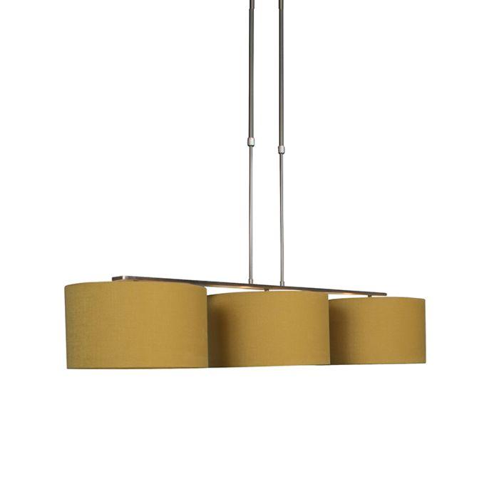 Lámpara-colgante-moderna-de-acero-con-pantalla-de-35-cm-de-maíz---Combi-3-Deluxe