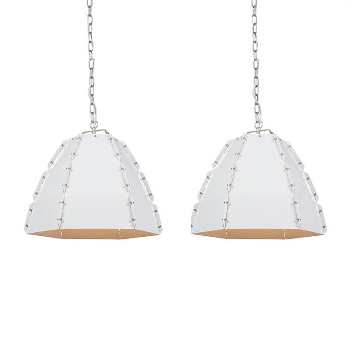 Set-2-lámparas-colgantes-diseño-blanco---NIRO