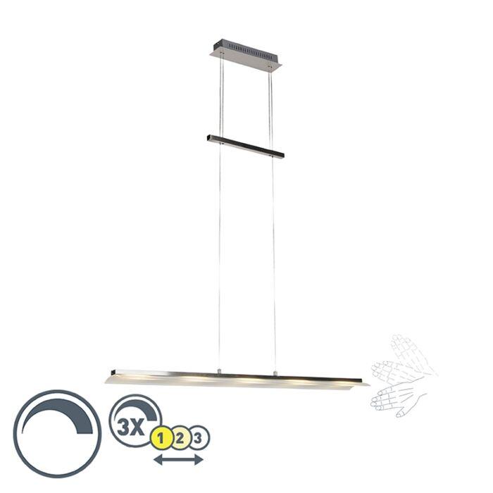 Lámpara-colgante-diseño-acero-regulador-altura-ajustable-LED---ROM