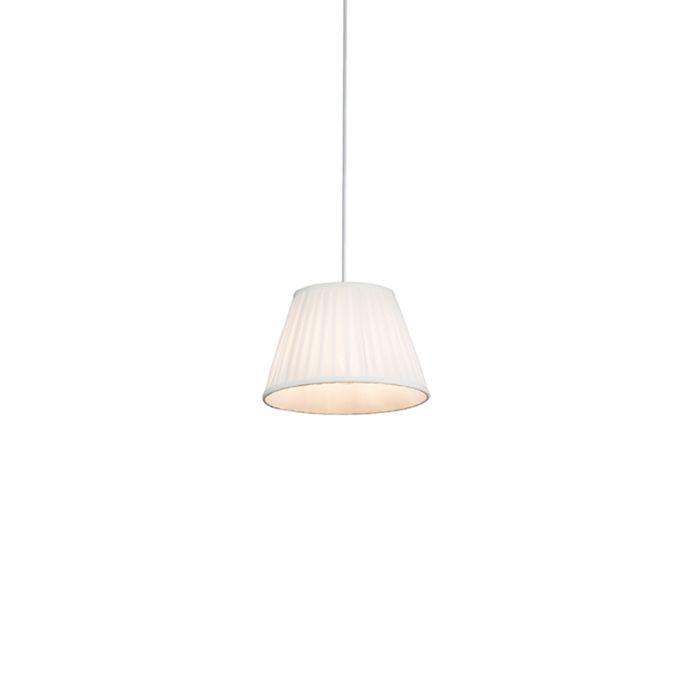 Lámpara-colgante-retro-crema-25-cm---Plisada